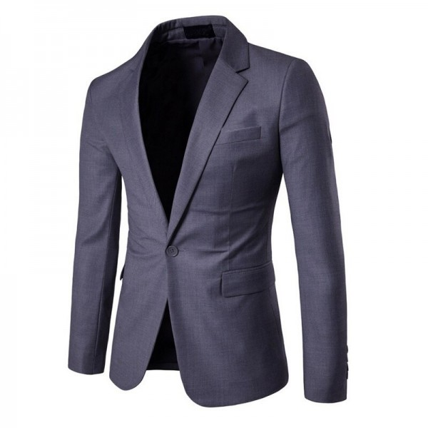 Charm Men's Casual Slim Fit One Button Suit Blazer Coat Jacket Tops Men Fashion Casual Sexy business Coat