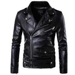 Autumn Men's PU Leather Jacket for Men Fitness Fashion Male Suede Jackets Masculino Casual Coat Male Clothing