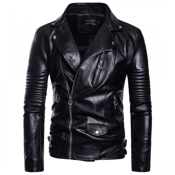 Men's Leather Jacket Classic Male PU Faux Coats Motorcycle Coat Biker Jackets Mens Spring Autumn Brand Clothing