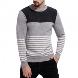 Brand Mens Pullover Sweaters Autumn Winter Striped Sweater Pullovers Male Jumpers Knitwears Boys