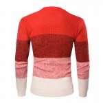 O-Neck Striped Pullover Men Autumn Winter Casual Men Sweater Knitted Cotton Slim Fit Pull Homme Thick Warm Sweaters