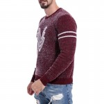 Pullover Striped Men Sweater Dress Thin Jersey Knitted Sweaters Mens Wear Slim Fit Knitwear Fashion Clothing