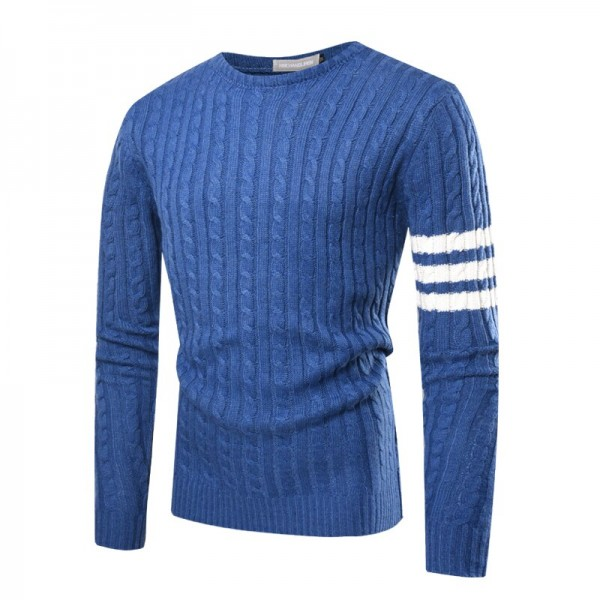 Spring autumn men's Casual striped pullover sweater men slim fit Dress Knitted soft cotton Sweater shirt