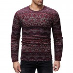 Tee Top Male Hiphop Streetwear Long Sleeve Fitness Tshirts Men Printed Camouflage Male T-shirts
