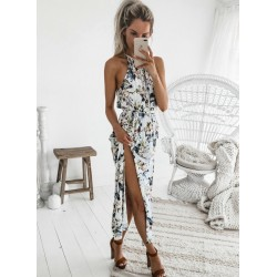 Sexy Halter High Elastic Waist Design  Dress