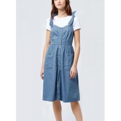 Sleeveless Denim Slip Dress