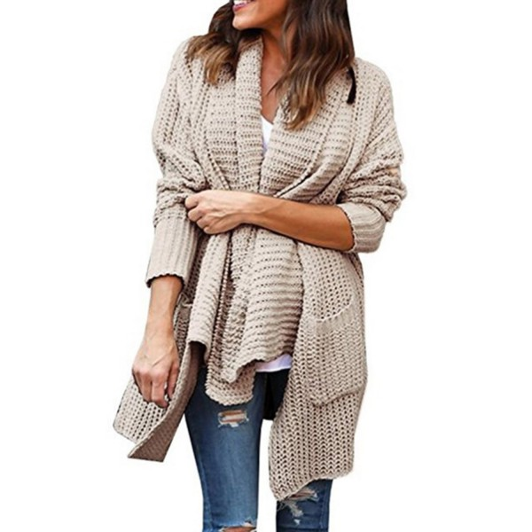 Comfy Cozy Open Front Pocketed Cardigan With Pockets