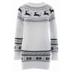Deer Printing Long Sleeve Slim Sweater
