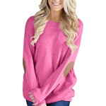 Fashion Round Neck Batwing Sleeve Pullover Knit Sweatshirt