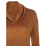 High Neck Asymmetric Solid Pullover