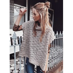 High Neck Short Sleeve Knit Pullover Sweater