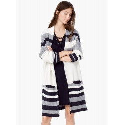 Long Sleeve Color Splicing Open Front Cardigan