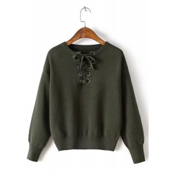 Pullover Long Sleeve Solid Sweater