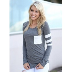 Fashion Stripe Slim Fit Pullover Tee