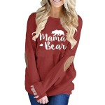 Letter Printed Long Sleeve Pullover Tee